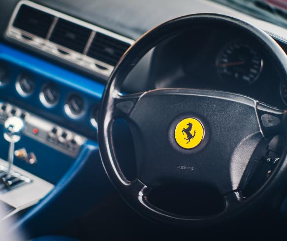 Stirring Wheel of a Ferrari